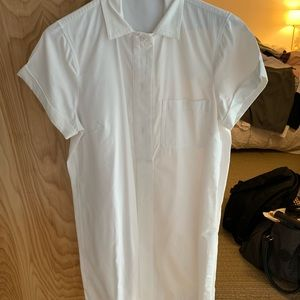 White J. Crew button down dress